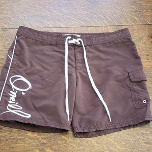 O'neill Brown Board swim Shorts, Size 7